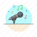 audio, instrument, microphone, music, play, sing, sound icon