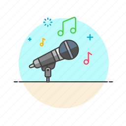 microphone, music icon