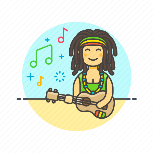 audio, instrument, music, play, reggae, sound, ukulele icon