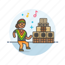 audio, dance, instrument, music, play, reggae, sound icon