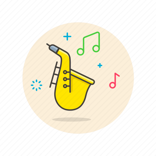 audio, blow, instrument, music, play, saxophone, sound icon