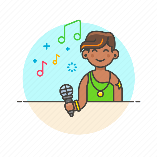 audio, instrument, microphone, music, play, singer, sound, woman icon