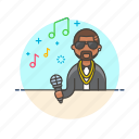audio, instrument, man, microphone, music, play, singer, sound icon