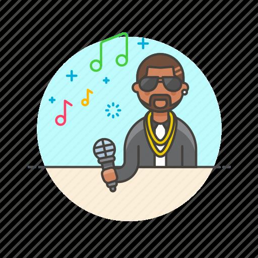 audio, instrument, man, microphone, music, play, singer, sound icon