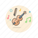 audio, instrument, music, play, sound, violin icon