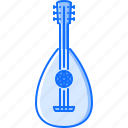 band, instrument, lute, music, song icon