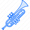 band, instrument, music, song, trumpet icon