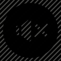 audio, low volume, mute, no, no sound, no volume, quiet, silent icon