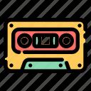 tape, cassette, music, player