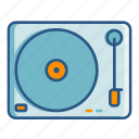 dj, music, party, play, scratching, spin, turntable icon