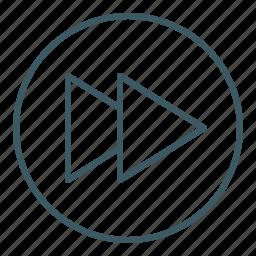 audio, forward, media, speed, ui, video icon