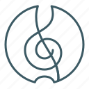 clef, music, song, treble icon