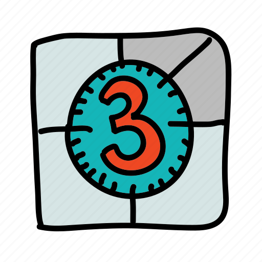 begin, countdown, movie, multimedia, vintage icon