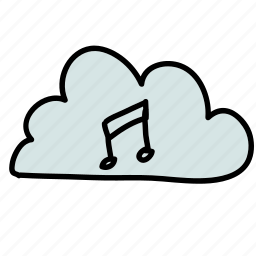 cloud, connect, listen, multimedia, music, share icon