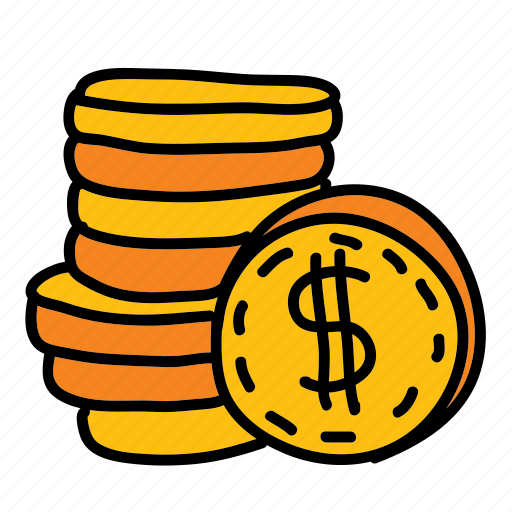 cash, coins, dollar, expense, multimedia, pay, sign icon