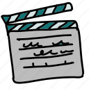 acting, directing, director, movie, multimedia, recording icon