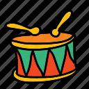 drums, instrument, listen, multimedia, music, play, sound
