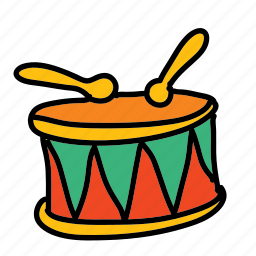 drums, instrument, listen, multimedia, music, play, sound icon