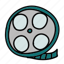 film, movie, multimedia, play, vintage, watch icon