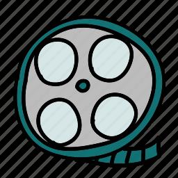 film, movie, multimedia, play, vintage, watch icon