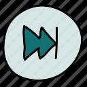 fast, forward, movie, multimedia, music icon