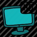 hd, movie, multimedia, quality, screen, video icon