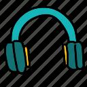 headset, listen, movie, multimedia, music icon