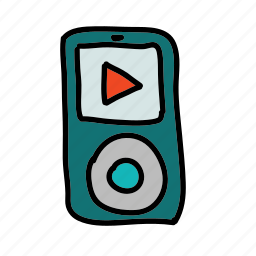 movie, mp3, mp4, multimedia, music, player, sound icon