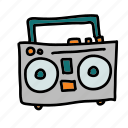multimedia, music, play, player, speaker, tape icon