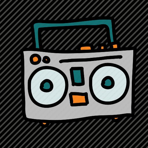 multimedia, music, play, player, speaker, tape icon