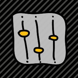 adjust, change, multimedia, music, volume icon