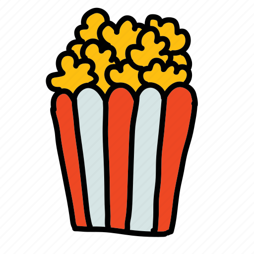movies, multimedia, popcorn, snack icon