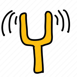 fork, multimedia, music, sound, tuning icon