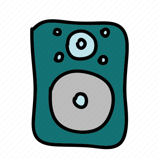 movies, multimedia, music, sound, speaker icon