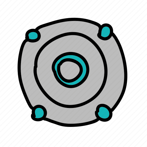 circle, multimedia, music, round, speaker icon