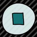 movie, multimedia, music, stop icon