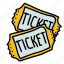 bought, movies, multimedia, theatre, tickets icon