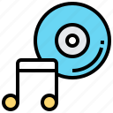 audio, disc, entertainment, music, song icon