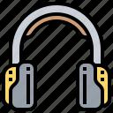 earphone, headphone, headset, music, song icon