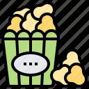 corn, food, movie, popcorn, snack icon