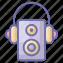 audio player, hardware, music player, sound system, speaker icon