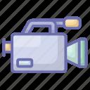 camcorder, cinematography, movie camera, retro camera, video camera icon