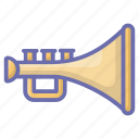 brass, french horn, marching band, music instrument, trumpet icon