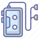 audio player, cassette player, music device, stereo, walkman icon