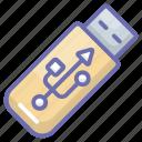 data storage, electronic hardware, flash drive, portable usb, usb, usb storage icon