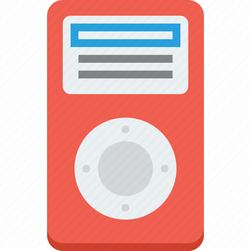 apple, audio, control, device, digital, display, electronics, entertainment, equipment, gadget, headphones, ipod, media, mobile, mp3, multimedia, music, play, player, portable, red, screen, sound, speaker, stereo, system, technology, tune, video, volume icon