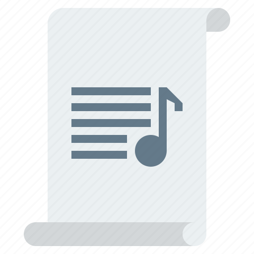 audio, document, download, extension, file, format, instrumental, media, mp3, multimedia, music, musical, note, notes, page, paper, sheet, software, sound, soundtrack, studio, track, tune, type icon