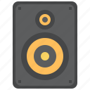 amplifier, audio, bass, device, electronic, electronics, equipment, hifi, listen, loud, loudspeaker, mastering, monitor, music, musical, play, power, sound, speaker, stereo, studio, subwoofer, system, technology, voice, volume, woofer icon