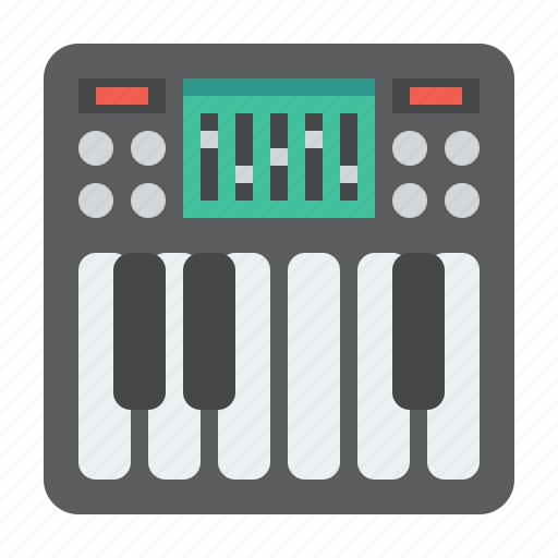 acoustic, acoustical, analog, audio, button, classic, classical, concert, dial, dj, electronic, equipment, instrument, interface, key, keyboard, media, melody, midi, mixer, multimedia, music, musical, musician, note, panel, piano, play, player, retro, sound, stereo, string, studio, synthesizer, tune icon