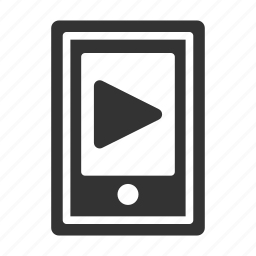 media, mobile, music, phone, play, smartphone icon